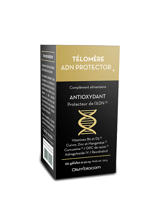 Télomère ADN Protector - Télomère ADN Protector - complexe antioxydant pour conserver vos cellules et l'A