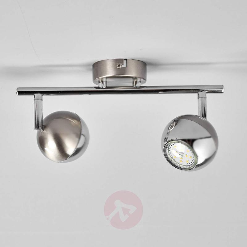 2-bulb ceiling lamp Arvin with GU10 LEDs - Ceiling Lights
