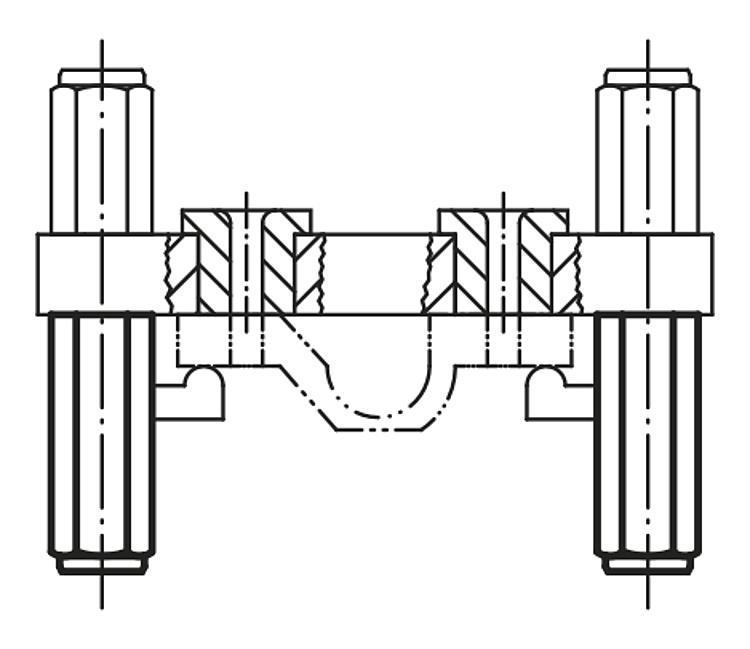 Colonne d'appui mâle - Appuis et pieds de position