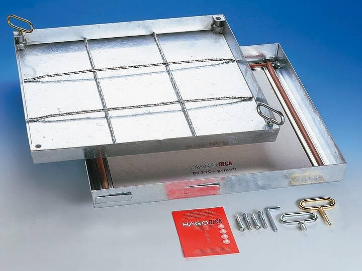 BV-F90 steel galvanised BVE-F90 stainless steel... - sealed, fire-resistant access cover