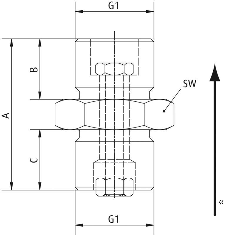 Strömungsventile mit Strömungsstift, selbstreinigend - null