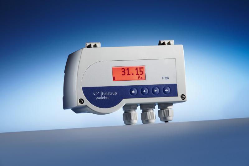 Differenzdruck-Messumformer P 26 - misst die Luftdruckdifferenz in Belüftungssystemen, hochpräzise, frei skalierbar
