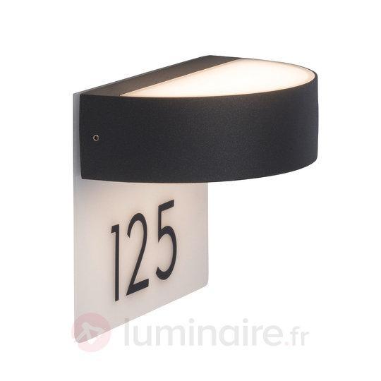 Élégant numéro de maison lumineux LED Monido - Appliques d'extérieur LED