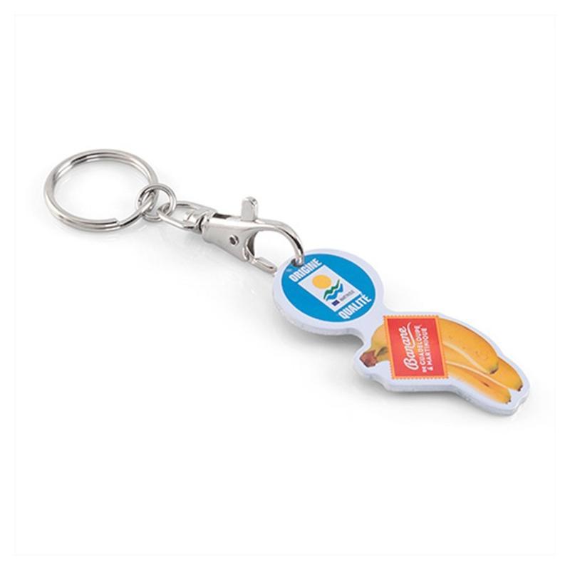 Porte-clés jeton aluminium - Porte-clés métal