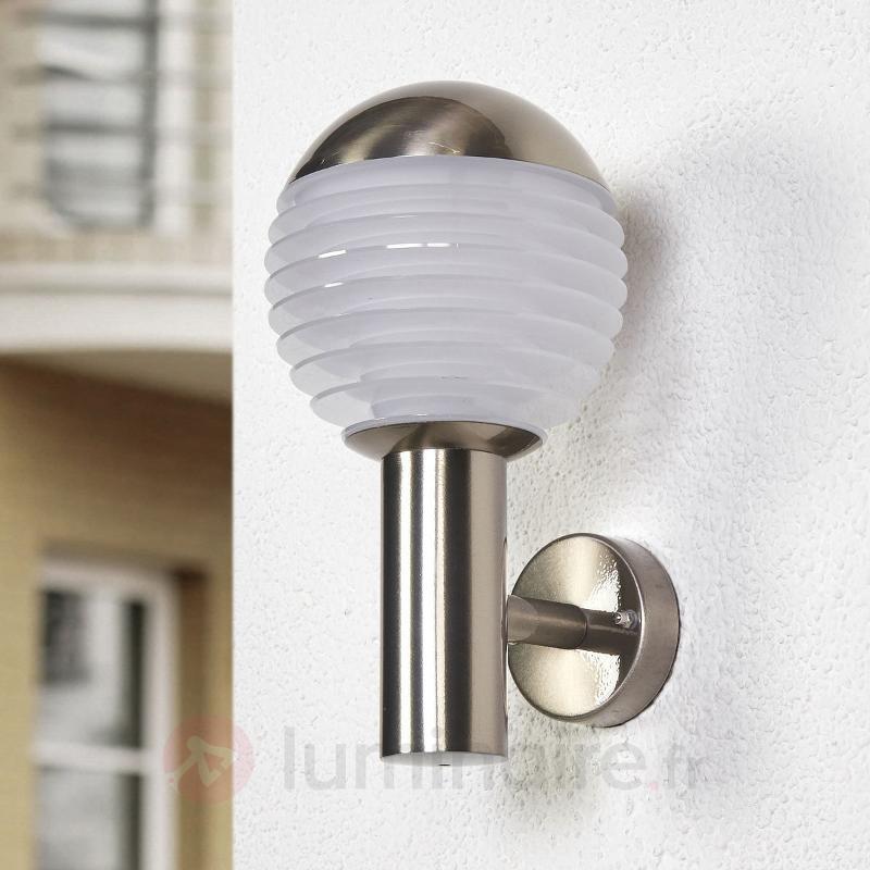 Applique d'extérieur en inox Ruben avec LED - Appliques d'extérieur inox