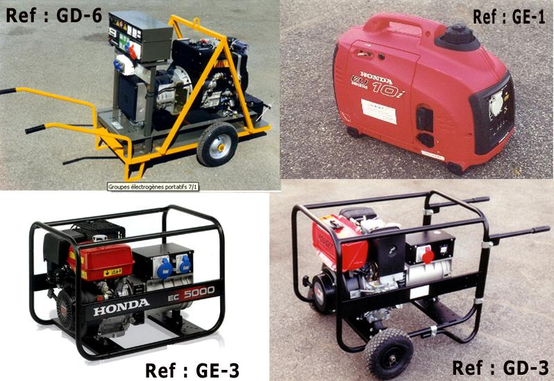 Machines for Track Works - Portable Generating Sets