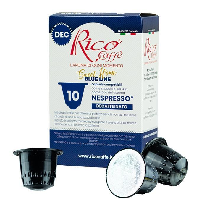Capsule compatibili Nespresso Blue Line-Decaffeinato -