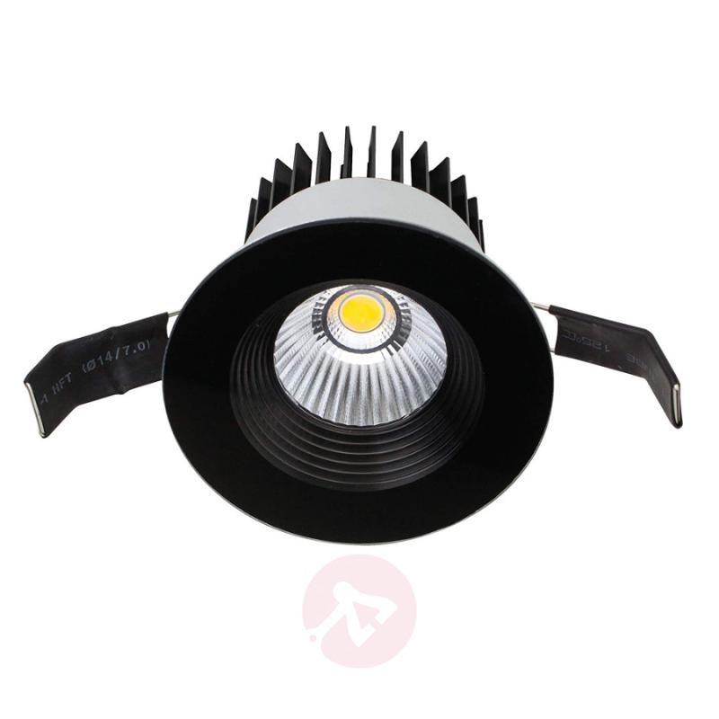 ELI - round LED recessed light in trendy black - indoor-lighting