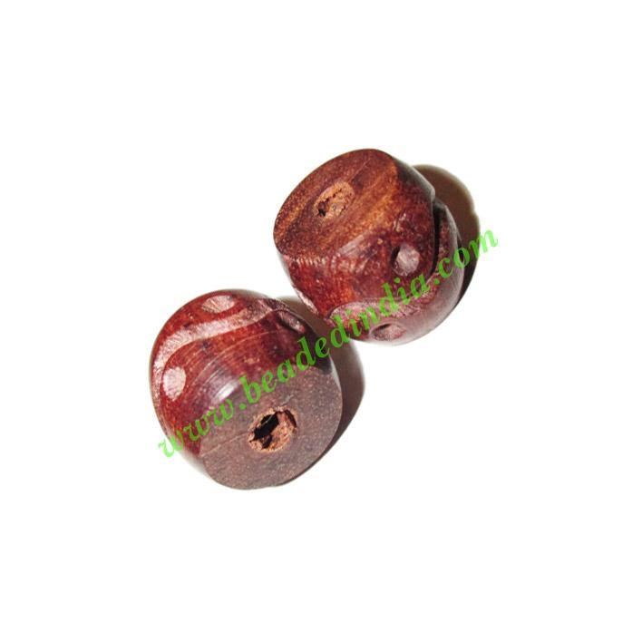 Rosewood Beads, Handcrafted designs, size 15x17mm, weight ap - Rosewood Beads, Handcrafted designs, size 15x17mm, weight approx 3.1 grams