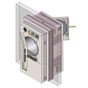 Double Door Autoclaves - 200L Pass-Through Steam Heated