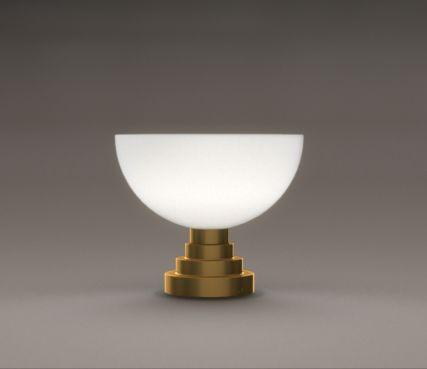Glass bowl table lamps - Model 998 V bis