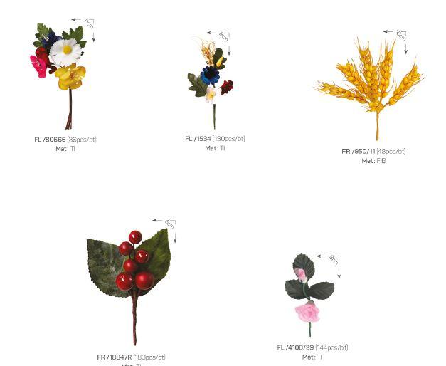Bouquets and fruit stalks - Decoration items