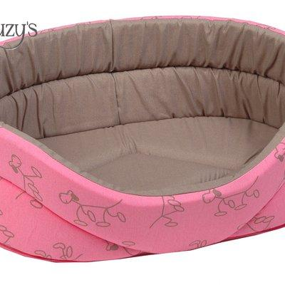 Oval bed pink/taupe for Pets