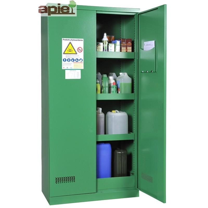 Armoire phytosanitaires, modèle haut à 2 portes - Référence : ASN PHL
