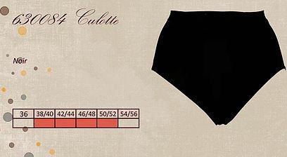 Culotte noire pour ventre plat - Lingerie pour Femmes