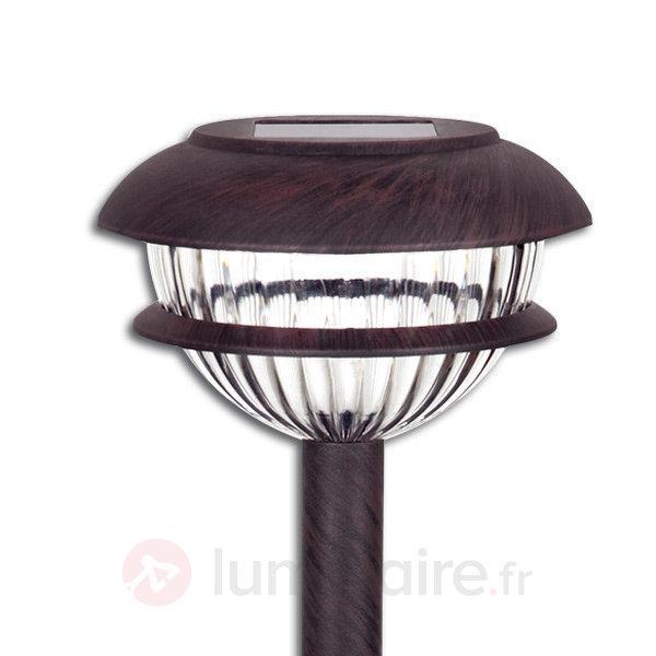 Lampe solaire LED ronde Nevia - lot de 4 - Toutes les lampes solaires