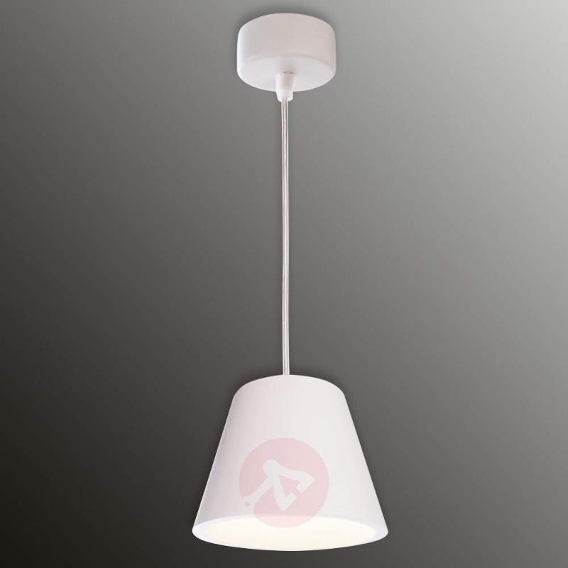 Plaster hanging lamp Lea - Pendant Lighting