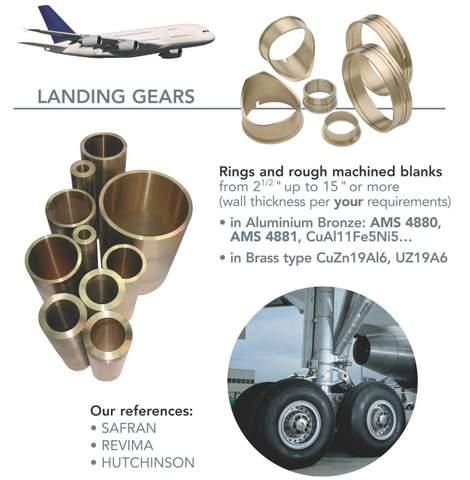 Composants pour l'industrie aérospatiale