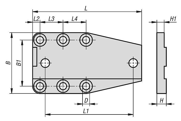 Plaques De Fixation En Aluminium Pour Étaux De Précision - Eléments pour montage de contrôle