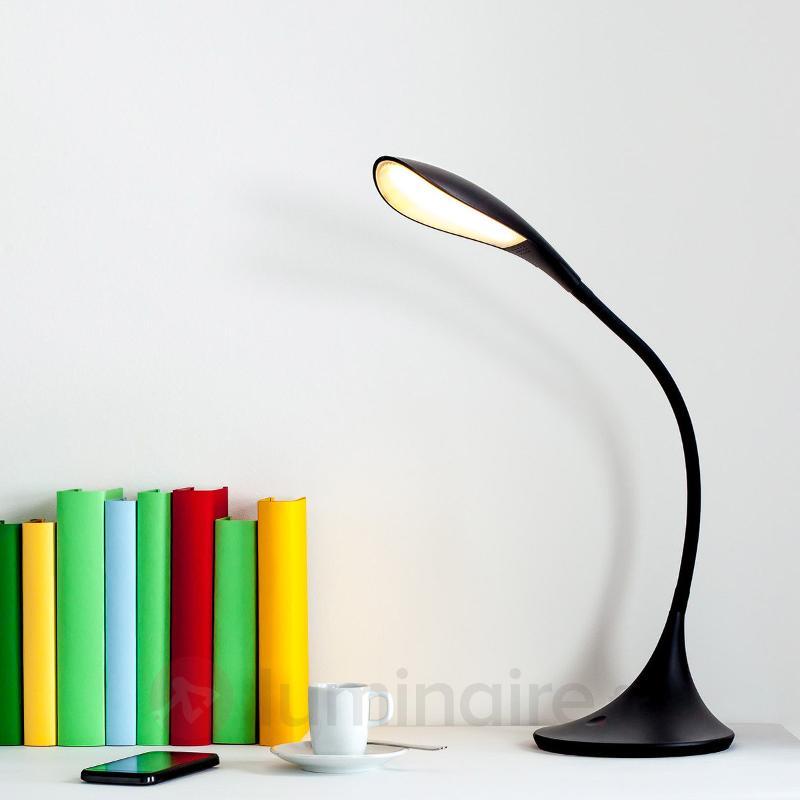 Lampe de bureau LED noire Josia - Lampes de bureau LED