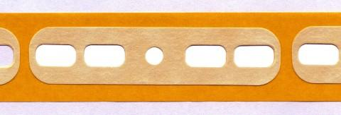 radial tape connector, self-adhesive paper,for metric... - radial tape connector made from Steierform 87-30118, brown, metric/imperial