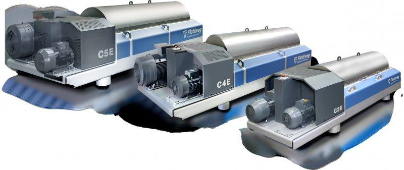 C7E Decanter Centrifuge - The Flottweg C7E Decanter is the Centrifuge for Waste water & Sludge Dewatering
