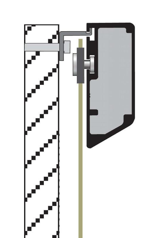 Ecran de projection tendu sur cadre en aluminium  - Fixvision