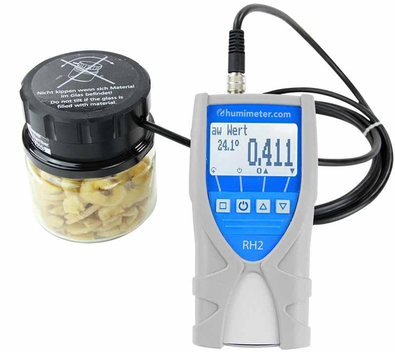 water activity meter / analyzer - humimeter RH2 - Portable laboratory instrument for determination of water activity (aw value)
