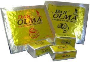 Margarine de boulangerie-pâtisserie Dan'Olma - Formats disponibles : 500g / plaques 2kg