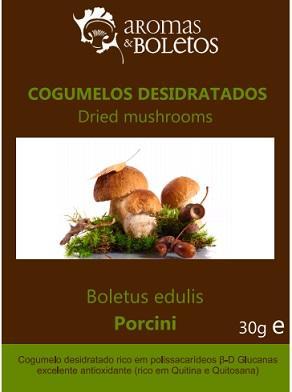 Cogumelo Boletus edulis desidratado