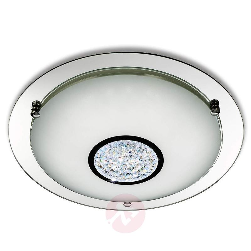 Edin LED ceiling light with crystal decorations - Ceiling Lights