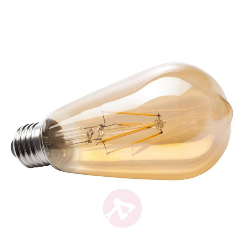 E27 6 W 820 LED rustical bulb, gold - light-bulbs