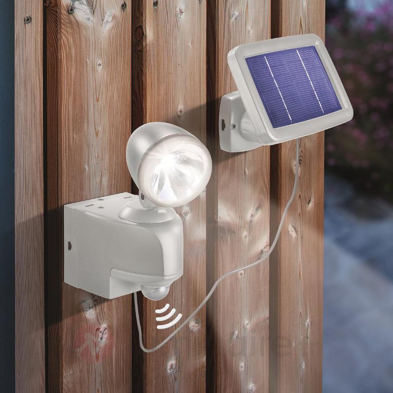PIR spot mural solaire avec capteur, gris - Tous les projecteurs d'extérieur