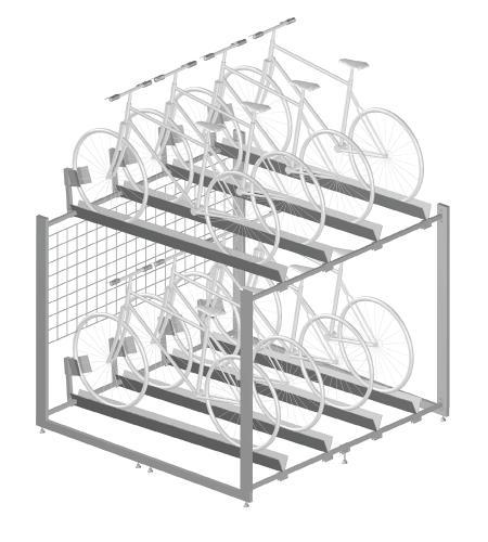 Modular shop rack systems & instore interior shelving design - Bicycle rack