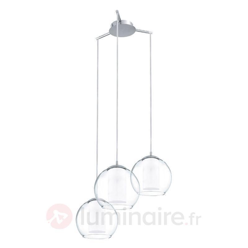 Bolsano - suspension à trois flammes en verre - Suspensions en verre