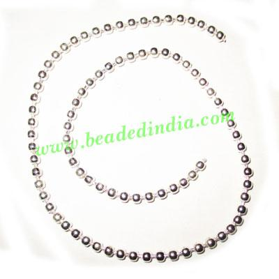 Silver Plated Metal Chain, size: 3mm, approx 38.8 meters in  - Silver Plated Metal Chain, size: 3mm, approx 38.8 meters in a Kg.
