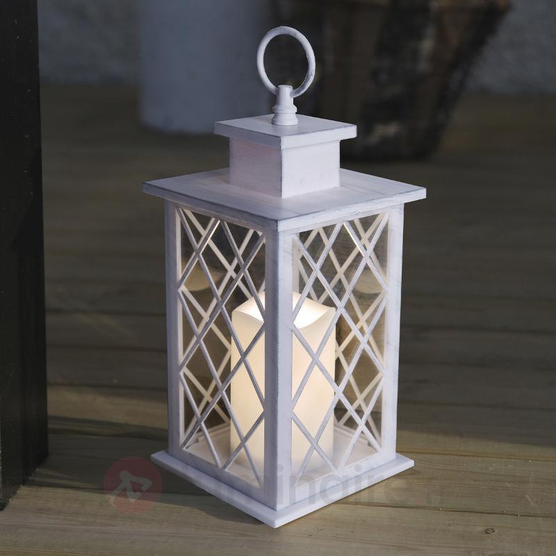 Lanterne LED Jaipur 30 cm blanche - Lampes décoratives d'extérieur