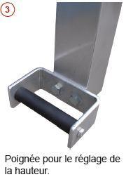 Portiques de levage - Portique en aluminium déplaçable sous charge type PALU-1
