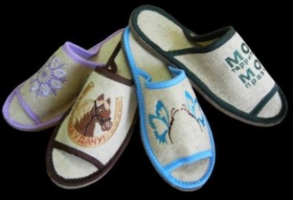 Домашняя обувь из войлока - широкий ассортимент тапочек