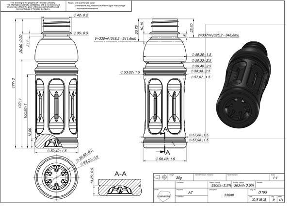 Projecto e Desenho embalagens em PET/PP - www.flexblow.com
