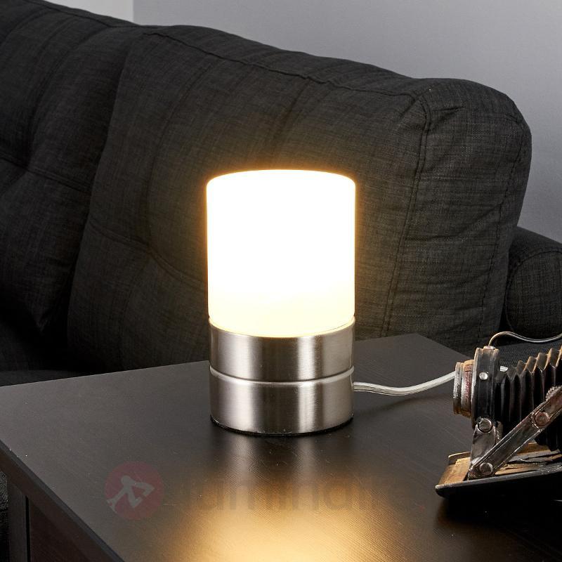 Sevda - lampe à poser cylindrique LED - Lampes de chevet