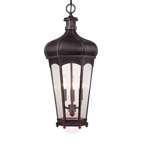Outdoor hanging light Champlain in antique copper - Outdoor Pendant Lighting