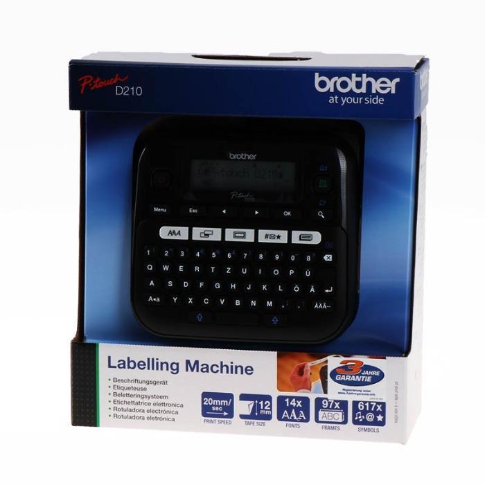 Rotuladora electrónica de Brother - Brother Rotuladora electrónica PTD210ZG1 D210 negro