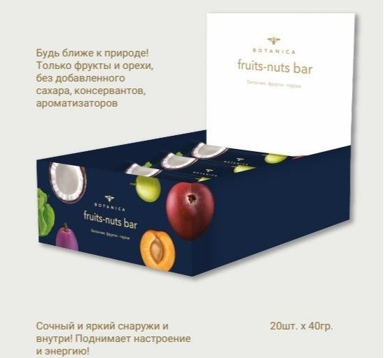 BOTANICA  фрукты-орехи  натуральный батончик -