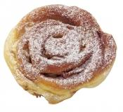 Berliner bun with apples, sugared - Pastried ready baked