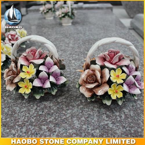 Haobo High Quality Ceramic Flowers HB-006 - Ceramic Flower Basket