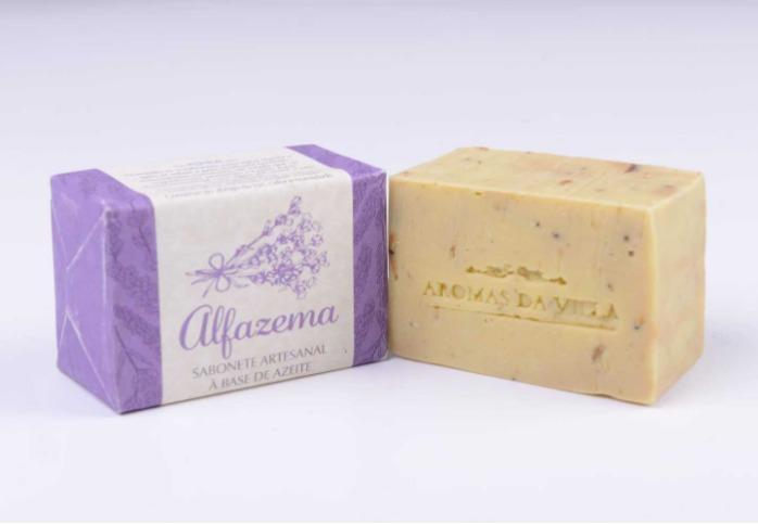 Sabonete Alfazema - 100% natural, 100% artesanal, nacional, azeite virgem extra, certificado