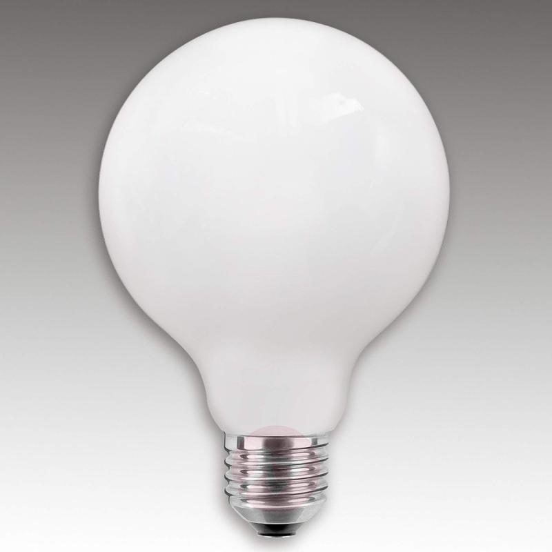 E27 6W LED globe lamp G125, opal - light-bulbs