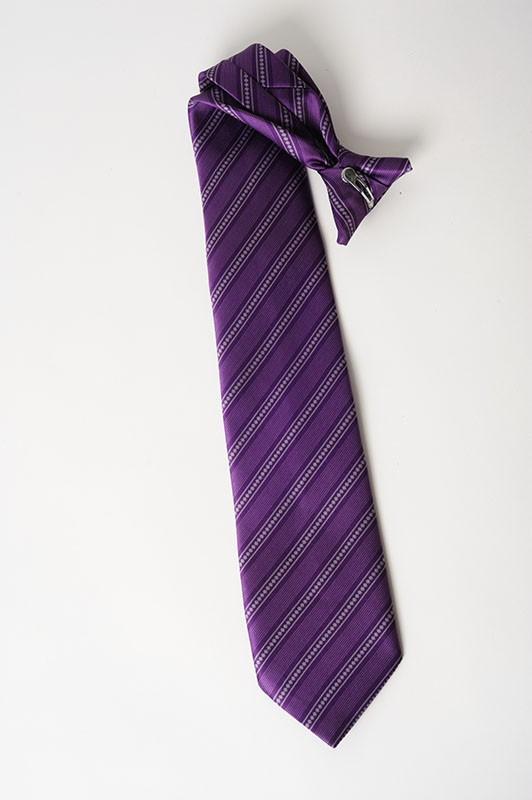 cravate à clip rayée - personnel de sécurité