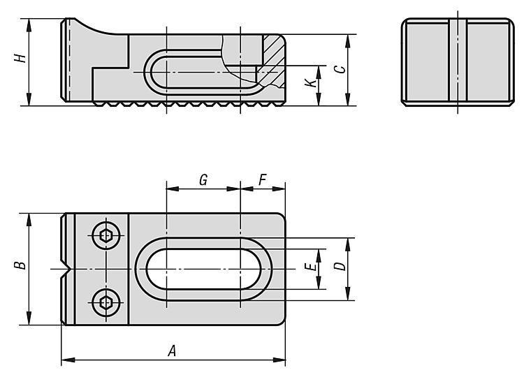 Mini butée réglable haute - Éléments de bridage et d'ajustement